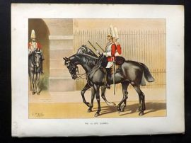 Richards Her Majesty's Army 1890 Military Print. 1st Life Guards